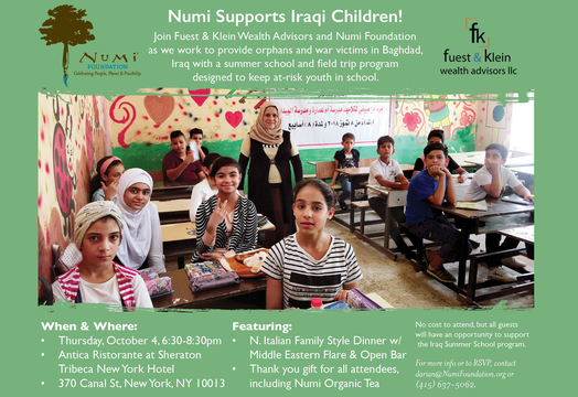 Join Fuest & Klein and Help Educate Iraqi Orphans! - Numi