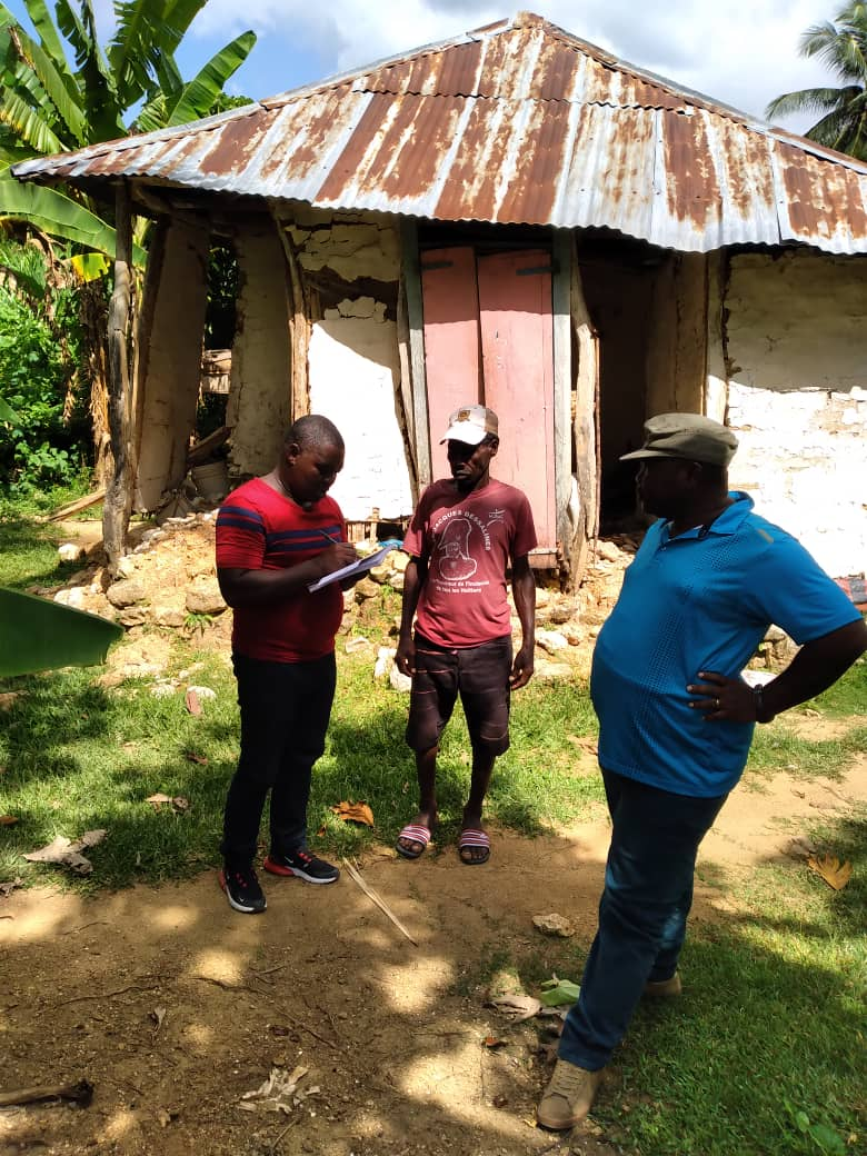 Identifying households for reconstruction.